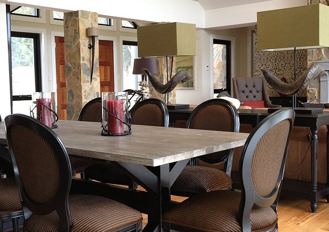 Classic French dining chairs