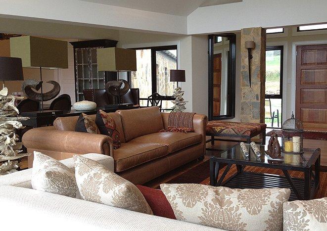 Spacious grand living room interior