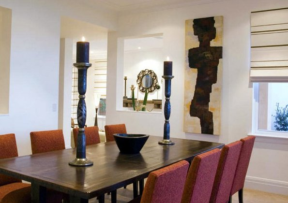 Santa fe dining room design