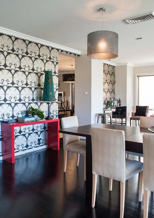Classic wall paper modern interior