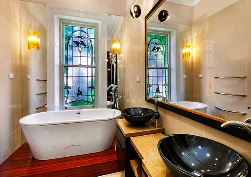 Gentleman designed bathroom interior