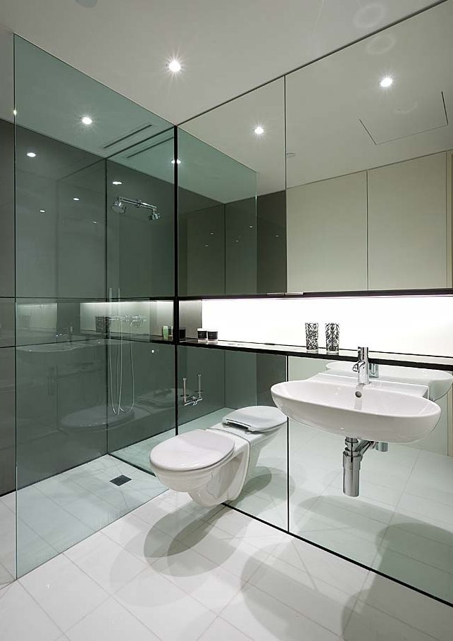Mirrored bathroom style