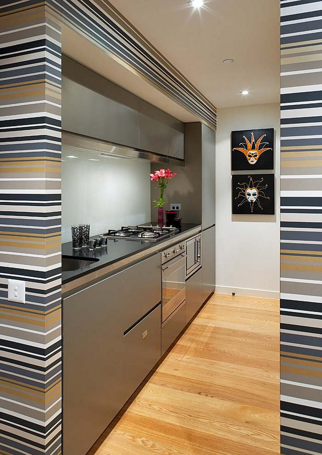 Gallery style kitchen