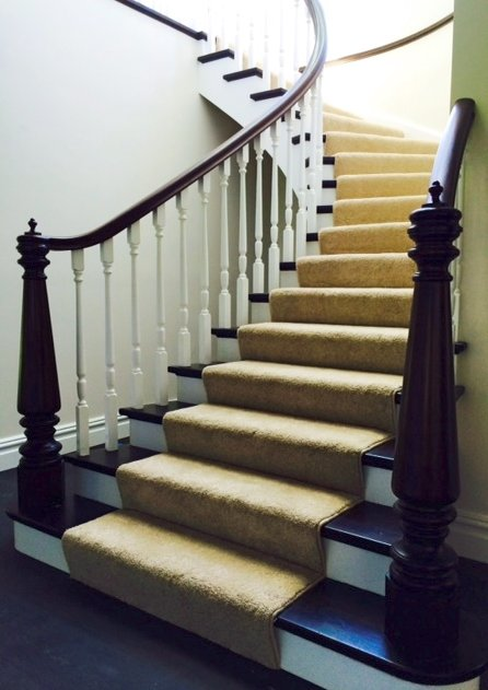The curved stairs