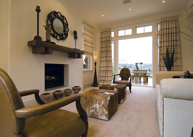 Santa fe style living room interior