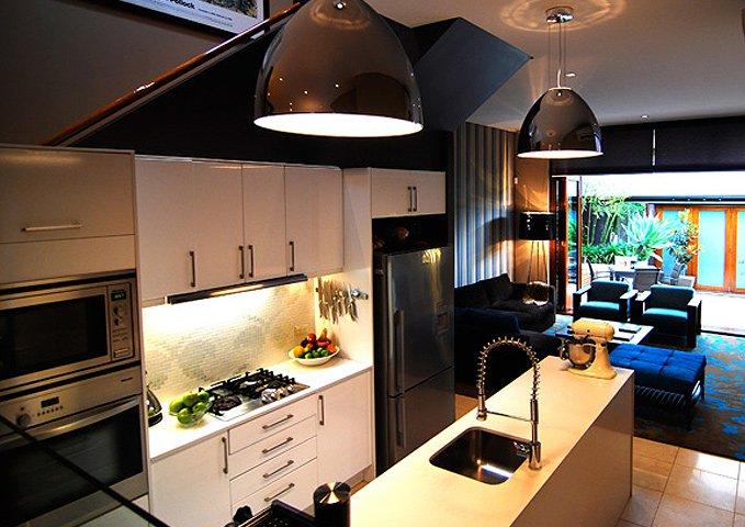 Cafe style kitchen interior